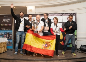Team Spain win the top spot!!!